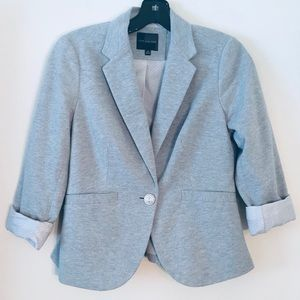 The Limited | Heather Gray Contrast Liner Blazer